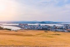 Seongsan Ilchulbong, Jeju-Insel, Südkorea lizenzfreie stockbilder