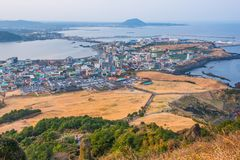 Seongsan Ilchulbong , Jeju Island , South Korea. Seongsan Ilchulbong , Jeju Island , South Korea Stock Photo