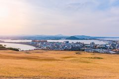 Seongsan Ilchulbong , Jeju Island , South Korea. Seongsan Ilchulbong , Jeju Island , South Korea royalty free stock images