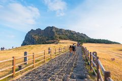 Seongsan Ilchulbong , Jeju Island , South Korea. Seongsan Ilchulbong , Jeju Island , South Korea Royalty Free Stock Photography