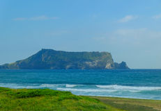 Seongsan Sunrise Peak,Jeju Island. Seongsan Sunrise Peak,an extinct volcano in Jeju Island,Korea Stock Images