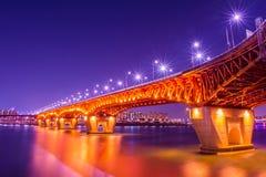 Seongsu bridge in korea. Royalty Free Stock Photography