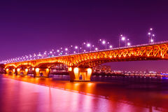 Seongsu bridge in seoul, Royalty Free Stock Images