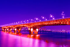 Seongsu bridge in seoul Royalty Free Stock Photos