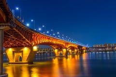 Seongsu bridge in seoul,korea Royalty Free Stock Image