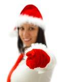 Señora atractiva Santa Imagenes de archivo