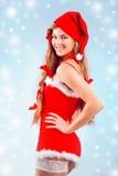 Señora atractiva Santa Fotografía de archivo libre de regalías