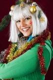 Señora de la Feliz Navidad Fotografía de archivo