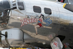 Señora del yanqui B-17 Fotos de archivo libres de regalías