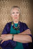 Señora excéntrica con los ojos salvajes Imagen de archivo