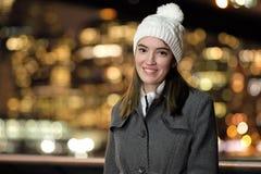 Señora joven en la noche Fotos de archivo libres de regalías
