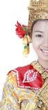 Señora joven tailandesa en un wea antiguo de la danza de Tailandia Fotografía de archivo