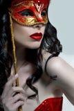 Señora In Mask Fotografía de archivo libre de regalías
