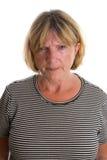 Señora mayor Angry Foto de archivo libre de regalías