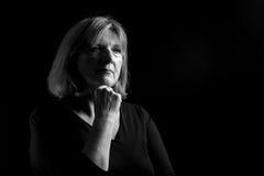 Señora mayor Thinking Fotos de archivo libres de regalías