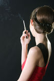 Señora que fuma Fotografía de archivo