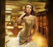 Señora rubia linda Imagen de archivo libre de regalías