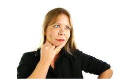 Señora Thinking Fotos de archivo