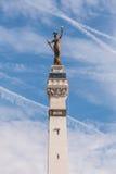 Señora Victory Statue en el círculo del monumento Imagen de archivo libre de regalías