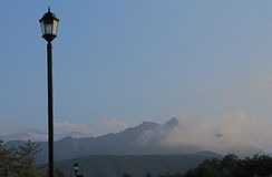 Seorak Mountains. Skyscape of Seorak Mountains in South Korea Royalty Free Stock Photos