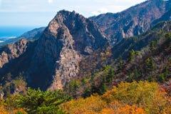 Seoraksan mountain range Royalty Free Stock Photo
