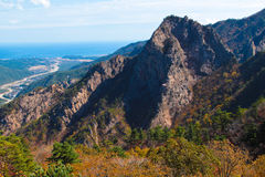 Seoraksan mountain range Royalty Free Stock Image