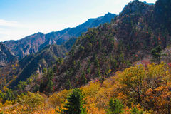Seoraksan mountain range Stock Image