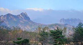 Seoraksan mountain range of South Korea Royalty Free Stock Photo