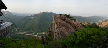 Seoraksan National Park Panorama, South Korea Stock Images