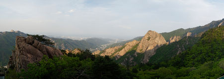 Seoraksan National Park Panorama, South Korea Stock Image