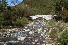 Seoraksan National Park, River in Seoul, South Korea, Sokcho, Gangwon-do stock image