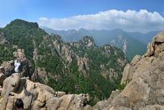 Seoraksan Park Narodowy halna panorama zdjęcia stock
