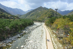 Seoraksan River Pathway Royalty Free Stock Images