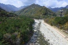 Seoraksan River Pathway Royalty Free Stock Photography