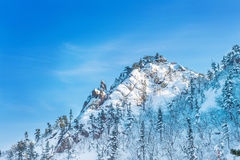 Seoraksan in winter,Famous mountain. Royalty Free Stock Images