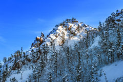 Seoraksan in winter,Famous mountain. Royalty Free Stock Photography