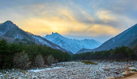 Seoraksan in winter,Famous mountain in Korea. Stock Images