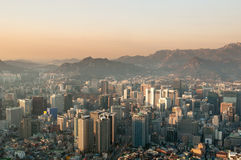 Seoul. Aerial view of Seoul in late afternoon light Stock Photography