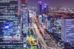 Seoul, arquitetura da cidade de Coreia do Sul na noite Imagem de Stock Royalty Free