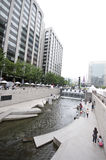 Seoul - artificial river Royalty Free Stock Images