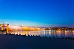Seoul Banpo Bridge Water Light Show Audience H Stock Photography