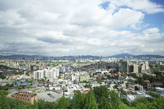 Seoul central em Coreia do Sul imagens de stock