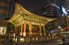 Seoul central em Coreia do Sul fotos de stock