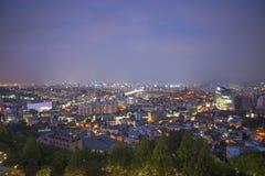 Seoul central em Coreia do Sul na noite imagem de stock royalty free