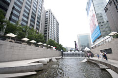 Seoul - Cheonggyecheo artificial river Stock Photo