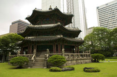 Seoul city. Urban views of Seoul city, South Korea royalty free stock photos