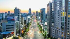 Seoul City Broody Sunset Dusk stock video