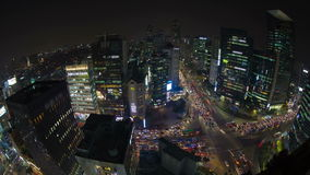 Seoul City Downtown Gangnam Stock Image