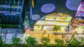 Seoul City Gangnam Illuminated stock footage