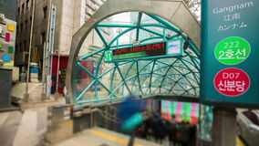 Seoul City Gangnam Subway Station stock footage